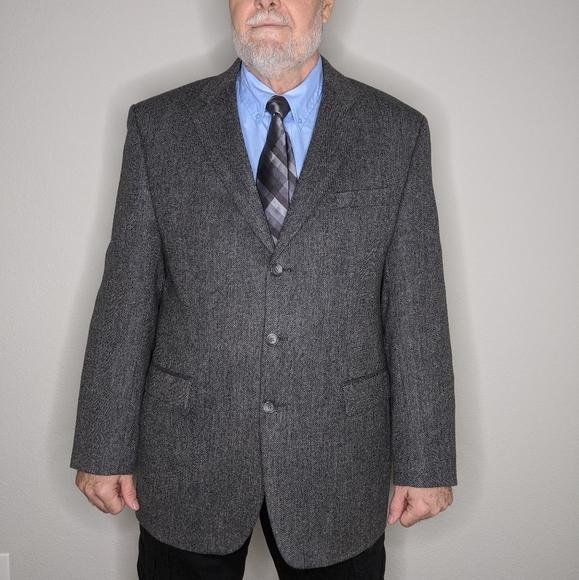 Izod Other - Izod Pure New Wool Blazer Grey 3 Button Classic